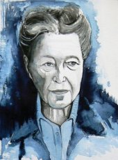 Aquarel Simone de Beauvoir