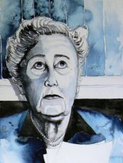 Aquarel Agatha Christie