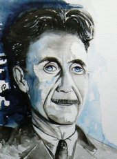 Aquarel George Orwell