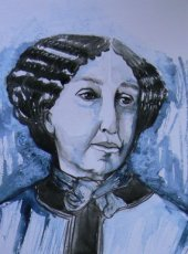 Aquarel George Sand
