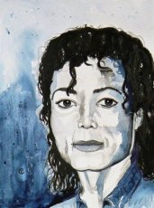 Aquarel Opdracht 0001 Aquarel Michael Jackson